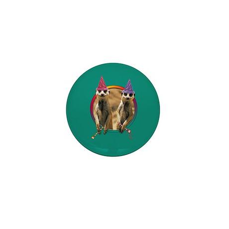 Meerkat Birthday Mini Button (10 pack)