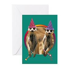 Meerkat Birthday Blank Cards (6)