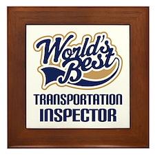 Transportation Inspector Framed Tile