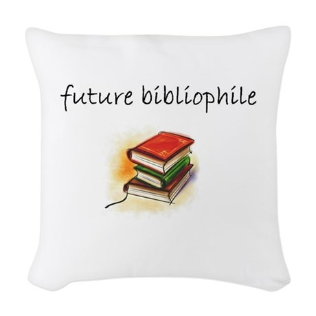 future bibliophile.JPG Woven Throw Pillow