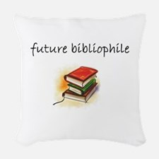 future bibliophile.JPG Woven Throw Pillow