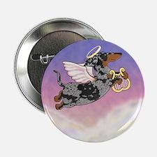 "Silver Dapple Dachshund Angel 2.25"" Button"