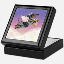 Silver Dapple Dachshund Angel Keepsake Box