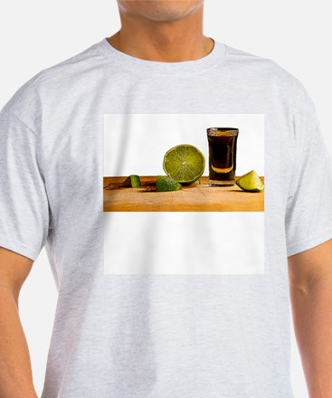 Tequila and Lime Ash Grey T-Shirt
