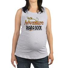 Reading Adventure Maternity Tank Top