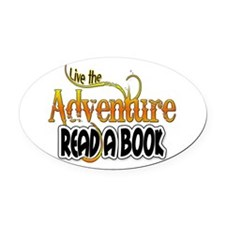 Reading Adventure Oval Car Magnet