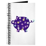 Swirly Flower Pig Journal