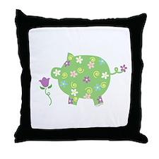 Garden Pig Throw Pillow