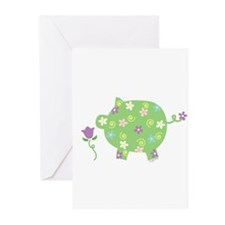 Garden Pig Greeting Cards (Pk of 10)