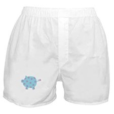 Blue and Purple Flower Pig Boxer Shorts