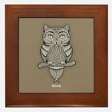 Meowl Framed Tile