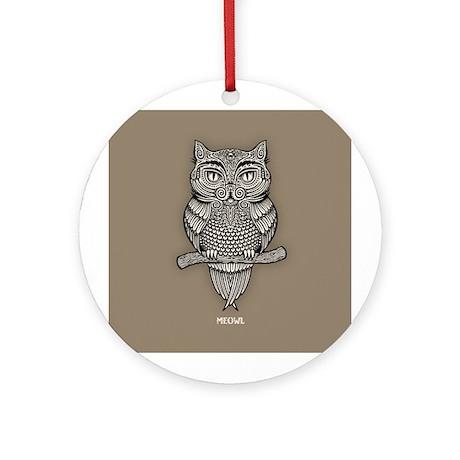 Meowl Ornament (Round)
