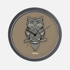 Meowl Wall Clock