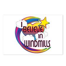 I Believe In Windmills Cute Believer Design Postca