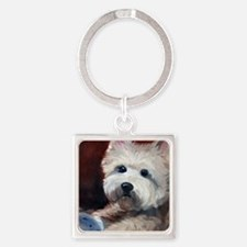 Little Cairn and Toy Square Keychain