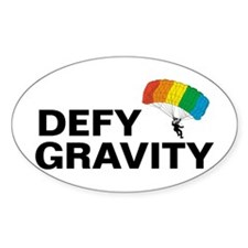 Defy Gravity Sky Dive Oval Decal