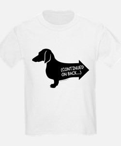 Dachshund (black) continued T-Shirt