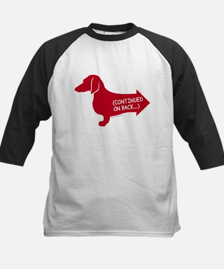 Dachshund (red) continued Kids Baseball Jersey