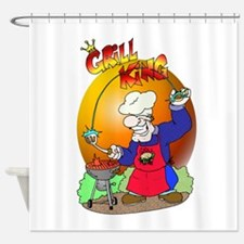 GRILLKING.png Shower Curtain