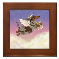 Chocolate Dapple Angel Framed Tile