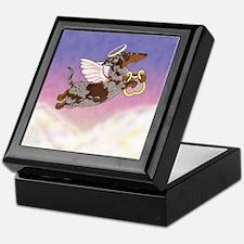 Chocolate Dapple Angel Keepsake Box