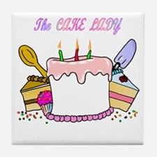 cake lady.png Tile Coaster