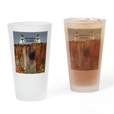Cairn Terrier Squirrels Drinking Glass