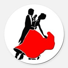 Shall We Dance Round Car Magnet