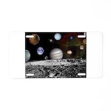Solar System Montage Aluminum License Plate