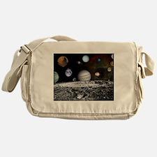 Solar System Montage Messenger Bag