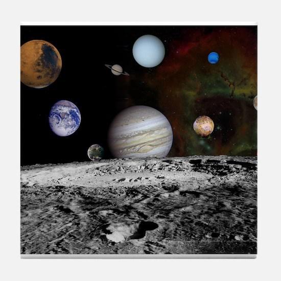 Solar System Montage Tile Coaster