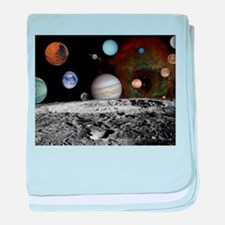 Solar System Montage baby blanket
