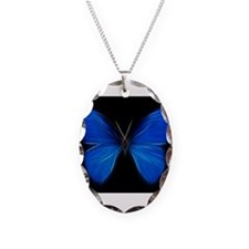 Blue Butterfly Fractal Necklace
