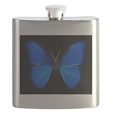 Blue Butterfly Fractal Flask