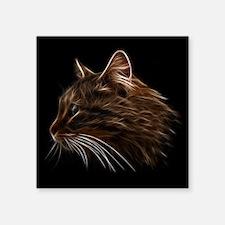 Domestic Cat Fractal Profile Sticker