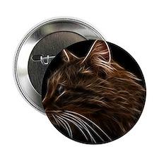 """Domestic Cat Fractal Profile 2.25"""" Button"""