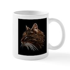 Domestic Cat Fractal Profile Mugs