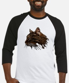 Domestic Cat Fractal Profile Baseball Jersey