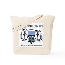 Dachshund bedwarmers (black doxie) Tote Bag