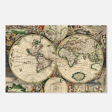 Vintage World Map Postcards (Package of 8)