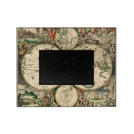 vintage world map picture frame by admin cp697262. Black Bedroom Furniture Sets. Home Design Ideas
