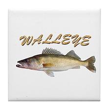 Golden Walleye Tile Coaster