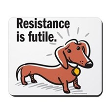 "Dachshund ""Resistance"" Mousepad"