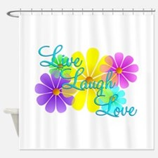 Live Laugh Love Shower Curtain