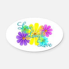 Live Laugh Love Oval Car Magnet