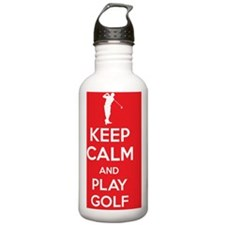 Keep calm and play gol Water Bottle