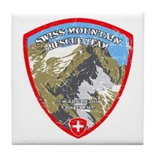 SWISS MOUNTAIN RESCUE-3-DISTRESSED Tile Coaster