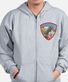 SWISS MOUNTAIN RESCUE-3-DISTRESSED Zip Hoodie