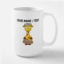Custom Hawaiian Giraffe Mugs