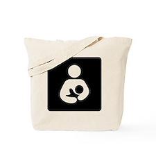 Breastfeeding Symbol (black) Tote Bag